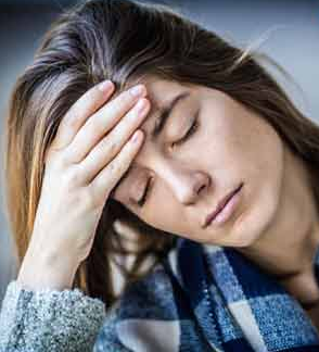 Chronic fatigue syndrome woman