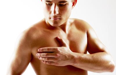 male breast cancer man exam