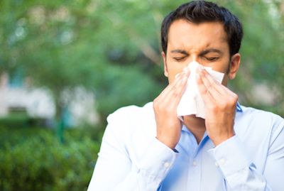 develop allergies man sneezing