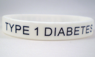qabout type 1 diabetes wrist band