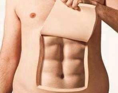 abs hidden under fat
