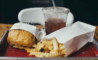 overweight cause and cure fast food tray