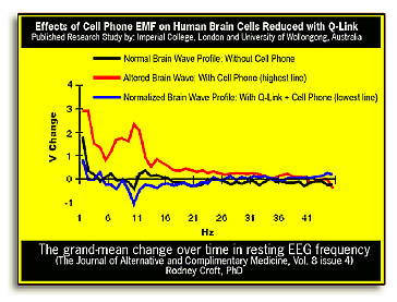 effects of cell phone emf on human brain