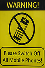 electromagnetic protection cell phone warning sign
